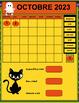 TNI- Calendrier TNI interactif OCTOBRE (SmartBoard)