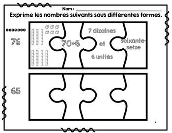 Numération - SMARTBOARD Puzzle de la numération (unités, dizaines) et +++