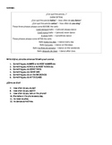 FREQUENCIA In Class worksheet SPANISH