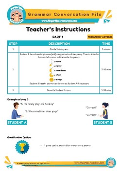 FREQUENCY ADVERBS - English Grammar Speaking Activity
