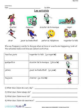 FREQUENCY WORDS PRACTICE (FRENCH 2017 EDITION)
