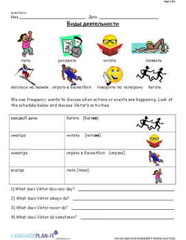 FREQUENCY WORDS PRACTICE (RUSSIAN 2015 EDITION)