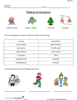 FREQUENCY WORDS (SPANISH)
