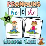 HE & SHE Pronouns Memory Game (he/she contrasts)