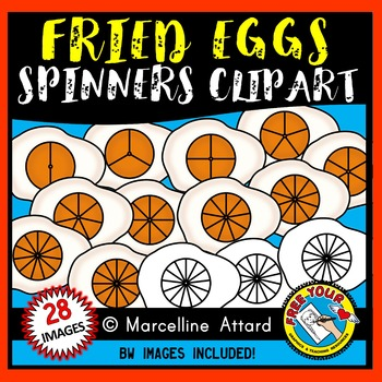 FRIED EGG SPINNERS CLIPART: FOOD CLIPART