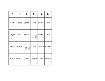 FRIEND Bingo