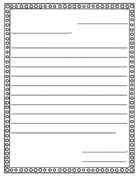 FRIENDLY LETTER (WITH/WITHOUT LABELS)