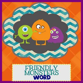 friendly monsters newsletter template word by the newsletter store
