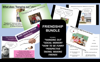 FRIENDSHIP BUNDLE! 4 great products for teaching friendshi