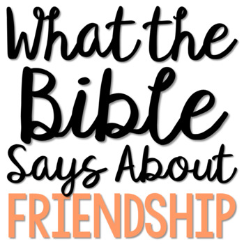 FRIENDSHIP: Bible Activity for Teens, Brochure Project, Interactive Lesson