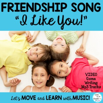 """Educational Character Song """"I Like You"""" Friendship Song with Video & Mp3"""