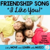 """Friendship Literacy Activities Song: """"I Like You""""  Writing, Video & Mp3"""