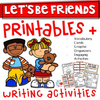 FRIENDSHIP UNIT- Kindergarten/1st/2nd- 3-Weeks Worth of Activities