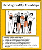 FRIENDSHIPS - Social Skills Lesson - Learning to Build Healthy Friendships