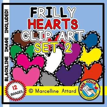 VALENTINE'S DAY CLIPART HEARTS: FRILLY HEARTS CLIPART: VALENTINE HEARTS CLIPART