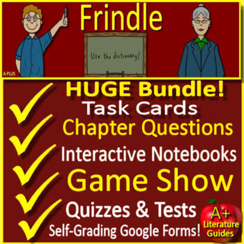 Frindle Google Novel Study Unit Print AND Paperless, with Self-Grading Tests