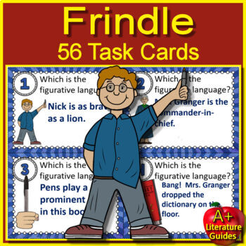 Frindle Novel Study Unit Print AND Paperless Google Ready + Self-grading Tests