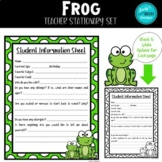FROG Back to School Stationary Set & Classroom Forms