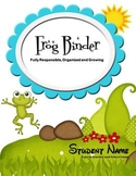 {F.R.O.G. Binder} Editable Binder Cover