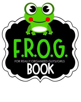 F.R.O.G. Book Clipart (green)