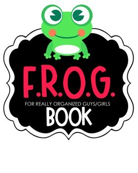 F.R.O.G. Book Clipart (pink)
