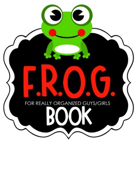 F.R.O.G. Book Clipart (red)
