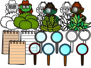 FROG DETECTIVES CLIP ART- FROGS  CLIP ART (33 IMAGES) COMMERCIAL USE