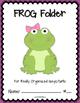 FROG Folder {Student Organization Folder}