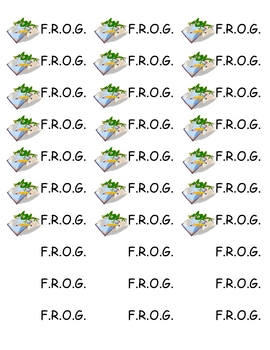 FROG Fully Responsible Organized and Growing Binder Labels