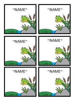 FROG Name Tags~ EDITABLE!