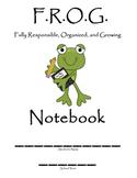 F.R.O.G. Notebook binder
