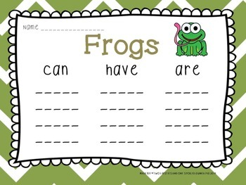 FROG & TIGER Animal Research and Informational Writing BUNDLE PACK {Common Core}