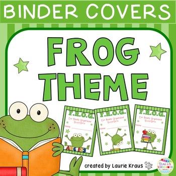 FROG Theme Binder Covers
