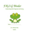 F.R.O.G  communication Binder