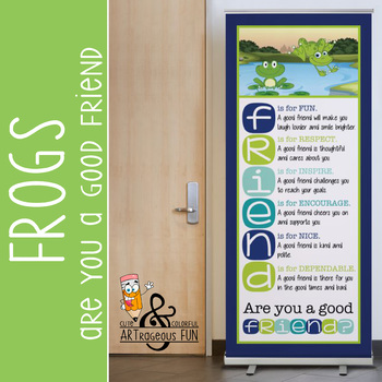 FROGS - Classroom Decor: LARGE BANNER, FRIENDS