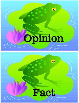 FROGGY FACTS File Folder Reading Game Fact or Opinion