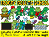 FROGGY GOES TO SCHOOL- FROGS CLIP ART & FROGS TEN FRAMES CLIP ART (72 IMAGES)