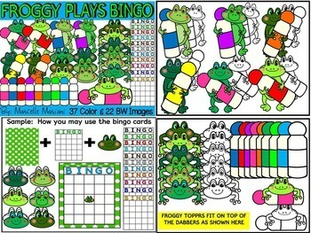 FROGS CLIP ART BUNDLE-FROGS GALORE -  (219 IMAGES) COMMERCIAL USE