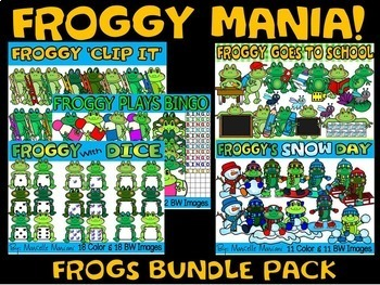 FROGGY MANIA- FROGS  CLIP ART BUNDLE (219 IMAGES) COMMERCIAL USE