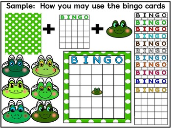 FROGGY PLAYS BINGO- FROGS WITH DABBERS & BINGO CARDS CLIP ART (60 IMAGES)