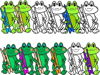 FROGGY WITH CLOTH PINS- FROGS CLIP ART (30 IMAGES)