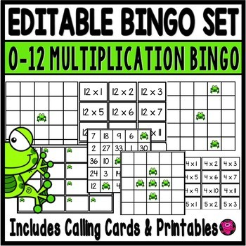 FROG THEME BINGO REVIEW GAME BOARDS FOR ANY SUBJECT