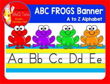 ABC FROGS  BANNER  A to Z Alphabet