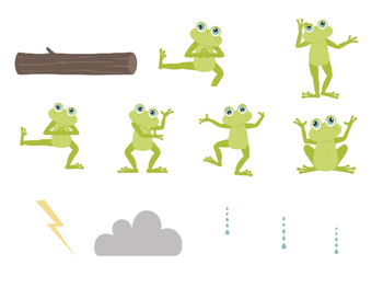 """""""FROGS AT THE POND"""" & """"FROGS ON A LOG"""" - INTERACTIVE PIECES/ File Folder Game"""