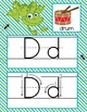 FROGS - Alphabet Cards, Handwriting, ABC Flash Cards, ABC print with pictures