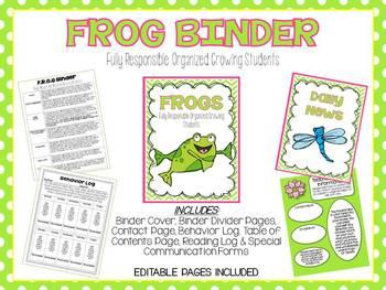 F.R.O.G.S Binder Kit: Editable