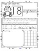 FROGS Number Practice Printables - Recognition, Tracing, C