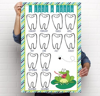 FROGS - Classroom Decor: I lost a TOOTH - size 24 x 36