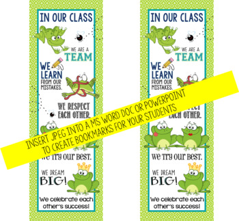 FROGS - Classroom Decor: LARGE BANNER, In Our Class