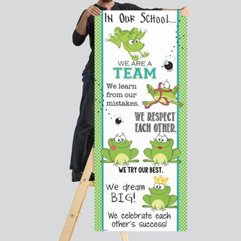 FROGS - Classroom Decor: LARGE BANNER, In Our School